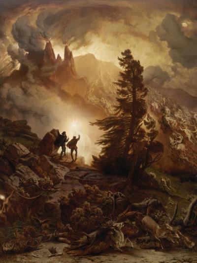 Walpurgis Night (From Goethe's Faust). before 1866-August Albert Zimmermann-Giclee Print
