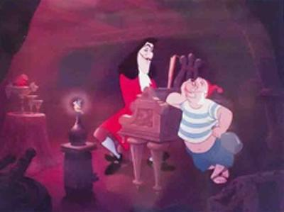Walt Disney's Peter Pan: Captain Hook, Smee and Tinkerbell