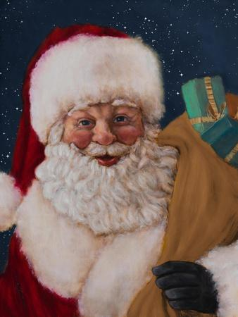 Jolly Saint Nick with Starry Night