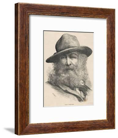 Walt Whitman American Poet--Framed Giclee Print
