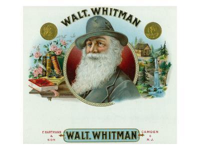 Walt Whitman Brand Cigar Inner Box Label-Lantern Press-Art Print