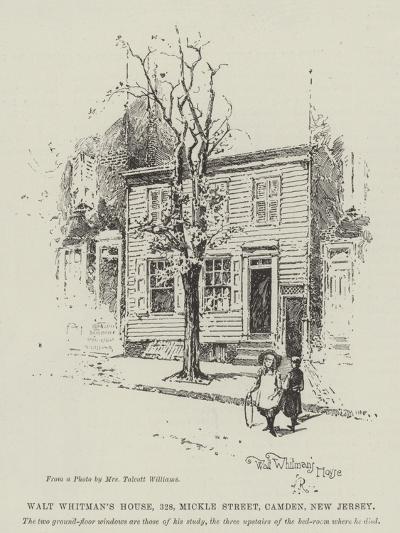 Walt Whitman's House, 328, Mickle Street, Camden, New Jersey-Herbert Railton-Giclee Print