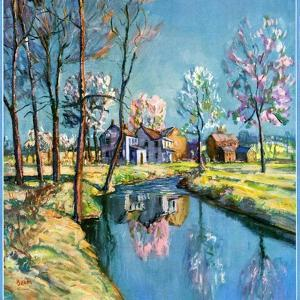 """""""Landscape of Farm in Springtime,""""May 1, 1932 by Walter Baum"""