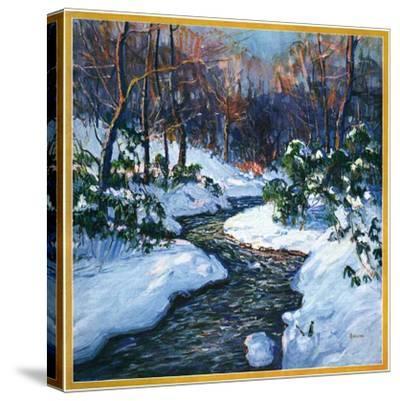 """Stream in Snowy Woods,""January 1, 1933"