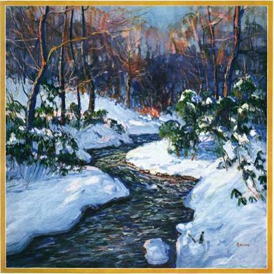 """Stream in Snowy Woods,""January 1, 1933 by Walter Baum"