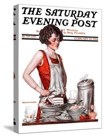 """""""Dirty Dishes,"""" Saturday Evening Post Cover, February 23, 1924"""