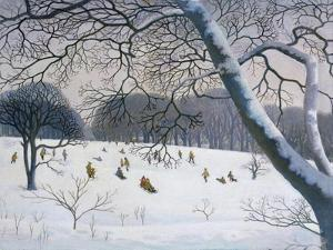 Tobogganing at the Golf Course by Walter Bell-Currie