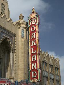 1928 Fox Oakland Theater Sign, Oakland, California by Walter Bibikow