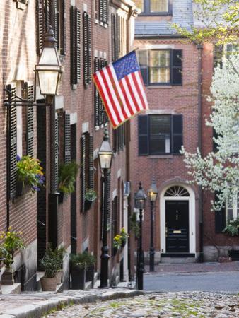 Acorn Street, Beacon Hill, Boston, Massachusetts, USA by Walter Bibikow