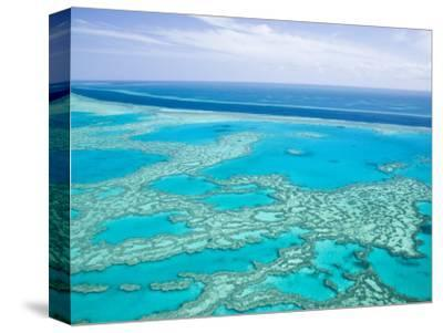 Aerial of the Great Barrier Reef, Whitsunday Coast, Queensland, Australia