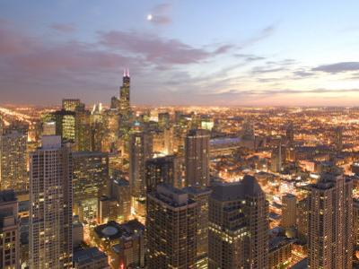 Aerial View of the Loop, Chicago, IL by Walter Bibikow