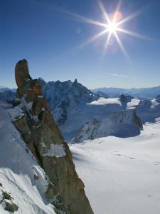 Aiguille du Midi, French Alps, Chamonix, France by Walter Bibikow