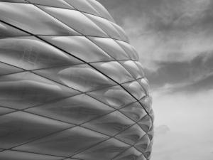 Allianz Arena Football Stadium, Munich, Bavaria, Germany by Walter Bibikow