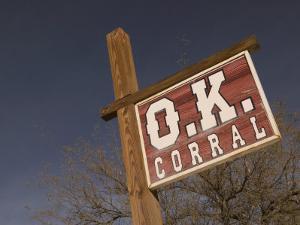 America's Gunfight Capital, OK Corral Sign, Tombstone, Arizona, USA by Walter Bibikow