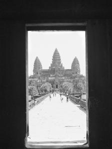 Angkor Wat Doorway View, Cambodia by Walter Bibikow