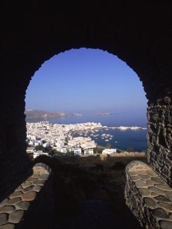 Archway from Town Castle, Mykonos, Greece by Walter Bibikow