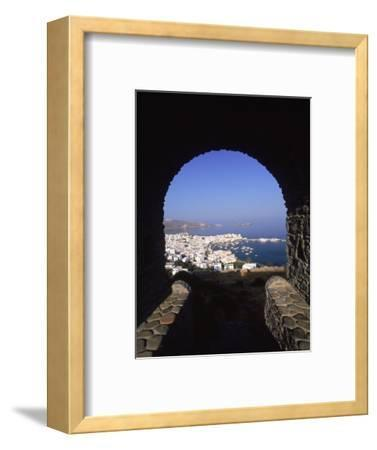 Archway from Town Castle, Mykonos, Greece