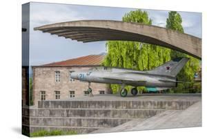 Armenia, Debed Canyon, Sanahin. MIG-21 jet fighter Monument by Walter Bibikow