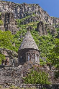 Armenia, Geghard. Geghard Monastery, Surp Astvatsatsin Church, 13th century. by Walter Bibikow