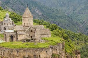 Armenia, Tatev. Tatev Monastery, 9th century. by Walter Bibikow