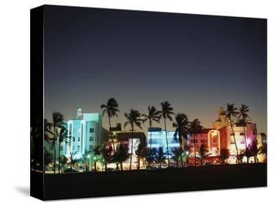 Art Deco Hotels at Dusk, Miami Beach, Florida, USA