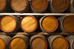 Australia, Fleurieu Peninsula, Mclaren Vale, Wine Barrels by Walter Bibikow
