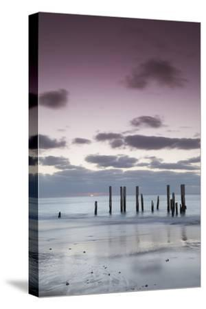 Australia, Fleurieu Peninsula, Port Willunga, Old Jetty, Dusk