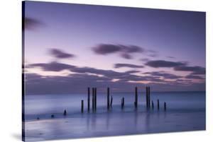 Australia, Fleurieu Peninsula, Port Willunga, Old Jetty, Dusk by Walter Bibikow