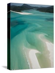 Australia, Queensland, Whitsunday Coast, Whitsunday Islands, Whitehaven Beach, Aerial View by Walter Bibikow