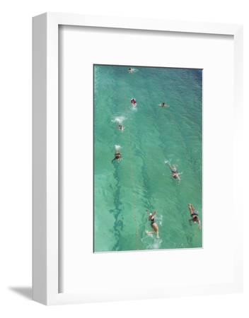 Australia, Sydney, Bondi Beach, Beach Pool, Elevated View, Morning