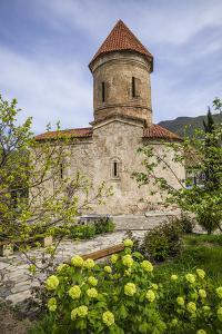 Azerbaijan, Kish. Caucasian Albanian Church exterior, 12th century. by Walter Bibikow