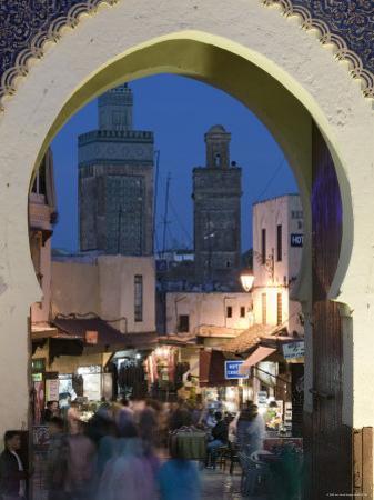 Bab Bou Jeloud Gate, Fes El-Bali, Fes, Morocco by Walter Bibikow