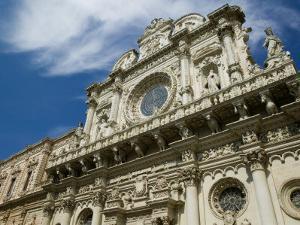 Baroque Architecture, 17th Century Santa Croce Church, Lecce, Puglia, Italy by Walter Bibikow