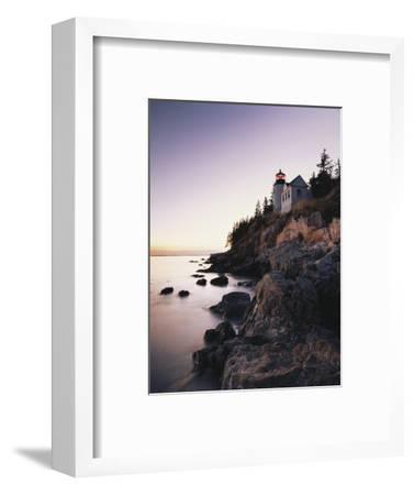 Bass Harbor Head Lighthouse at Dusk, Mount Desert Island, Maine, USA