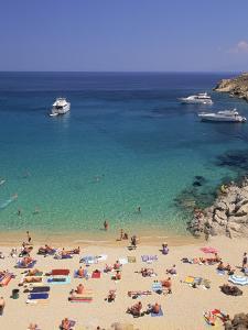 Beach, Mykonos, Greece by Walter Bibikow
