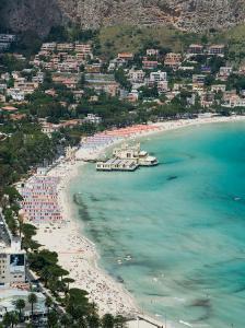 Beach View from Monte Pellegrino, Mondello, Sicily, Italy by Walter Bibikow