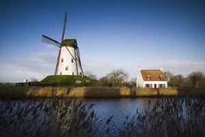 Belgium, Damme. Old wind mill by Walter Bibikow