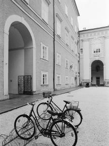 Bicycles in the Domplatz, Salzburg, Austria by Walter Bibikow