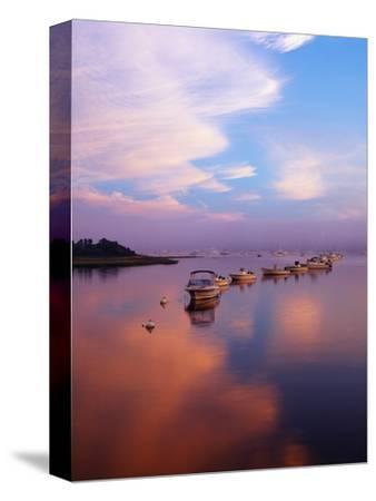 Boats in Harbor, Evening Light, Chatham, Massachusetts, USA