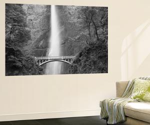 Bridge, Multnomah Falls, Columbia Gorge, Oregon, USA by Walter Bibikow