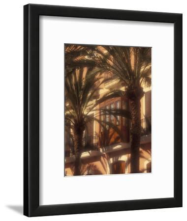 Building and Palms, Eivissa, Ibiza, Balearics, Spain