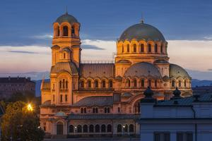 Bulgaria, Sofia, Ploshtad Alexander Nevski, Aleksander Nevski Church by Walter Bibikow