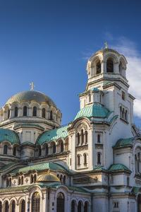 Bulgaria, Sofia, Ploshtad Alexander Nevski Square, Aleksander Nevski Church, Morning by Walter Bibikow
