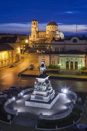 Bulgaria, Sofia, Ploshtad Narodno Sabranie Square by Walter Bibikow