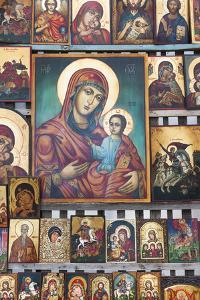 Bulgaria, Sofia, Souvenir Icons for Sale by Walter Bibikow