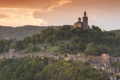 Bulgaria, Veliko Tarnovo, Asenova, Tsarevets Fortress, Dawn by Walter Bibikow