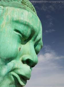 Bust of Jazz Great Charlie Yardbird Parker, Historic Jazz District, Kansas City, Missouri, USA by Walter Bibikow