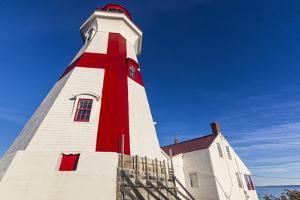 Canada, New Brunswick, Campobello Island. Head Harbour Lightstation lighthouse. by Walter Bibikow