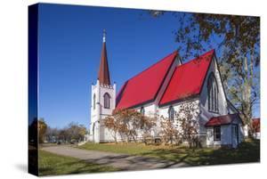 Canada, New Brunswick, Saint John River Valley, Gagetown. St John Anglican Church, b. 1880. by Walter Bibikow