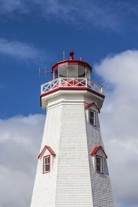 Canada, Prince Edward Island, East Point Lighthouse. by Walter Bibikow